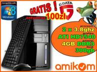 KOMPUTER 2x3,8GH DDR3 4Gb ATI7540 DVD WIFI G-data