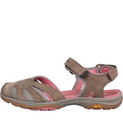 plaskie sandały z zakrytymi palcami damskie