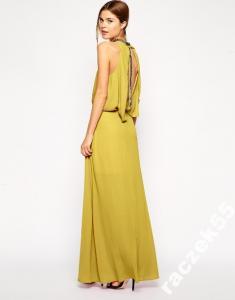 d57aaedf1c ASOS maxi sukienka zdobiona łańcuszkami r.42 - 4965536339 ...