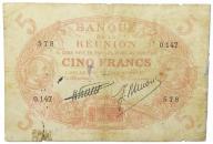 26.Reunion, 5 Franków 1912 - 1944 rzadki, St.3-/4+