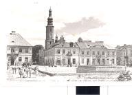 Radom- Stary Rynek - foto czarno-biała l.60-e