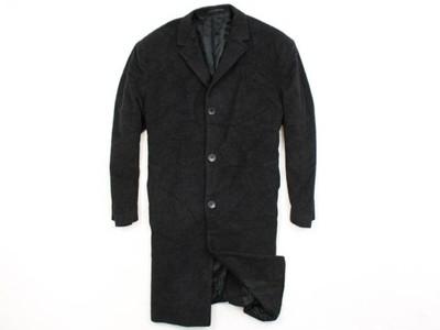 *A Pierre Cardin Płaszcz Wełniany Męski Czarny XL