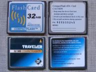 2 karty - 32 MB - CF - cena za 2 karty - jak nowe
