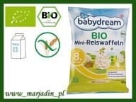 BabyDream Bio Mini Wafelki Ryżowe 8m 40g