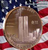 SEPTEMBER 11- 2001 - 1 oz .999 Copper Round