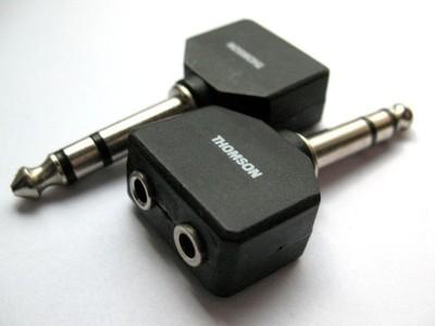 Thomson przejście 2x mały jack - duży jack stereo