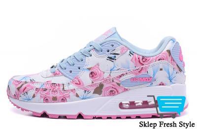 quality design 46b06 7cd34 Nike Air Max 90 Floral Kwiaty Różowe Białe SKLEP