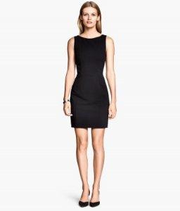0840164389 sukienka mini H M czarna z białą wstawką 36 S - 6396221177 ...
