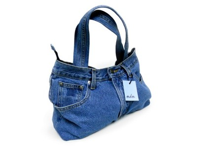 70f2a3dbf8e83 TOREBKA jeansowa dżinsowa UNIKATOWA damska - 6709375519 - oficjalne ...