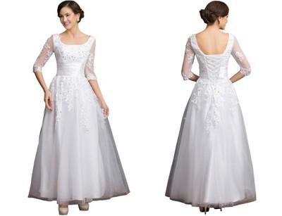 55f3bf4148 suknia ślubna SUKIENKA WESELE ŚLUB CYWILNY AJ 214 - 6705379182 ...