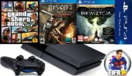 PS4 500GB + PAD + GRY + KONTO + GRATIS KABEL HDMI