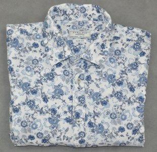 ZARA koszula męska lniana w kwiaty slim fit L 40  quwC0