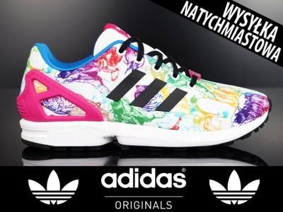 buty adidas damskie zx flux j s76285 kolorowe 2016