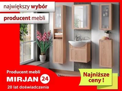 łazienka Wenga Elegancki Zestaw Mebli Do łazienki
