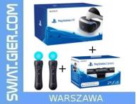 Gogle Sony PlayStation VR + Kamera PS4 + 2x Move u