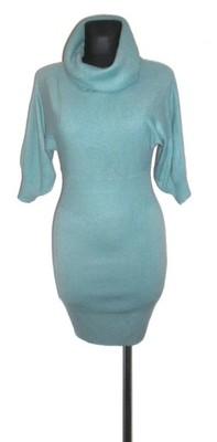 3a9759bd6fd832 ORSAY niebieska sweterkowa sukienka r 34 - 6697352966 - oficjalne ...