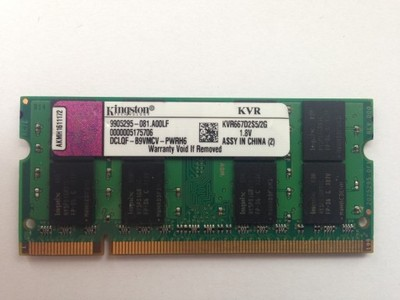 KINGSTON SODIMM 2GB DDR2 PC2 5300S 667MHz 2048MB