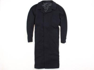 *B Pierre Cardin Płaszcz Wełniany Męski Czarny XL