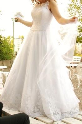 5973395f48 Sprzedam suknie ślubną! biała