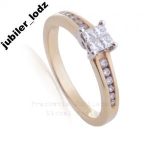 Złoty Pierścionek Zaręczynowy Pr585 Verona Prom 3579017746