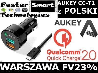 ŁAD SAM AUKEY CC-T1 2x2 USB QUICK CHARGE 2.0 4.4A
