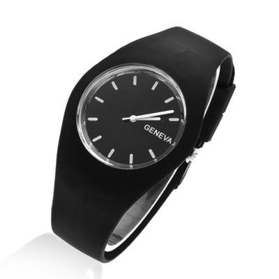 Zegarek Dziecięcy dla Chłopca Czarny Geneva Jelly