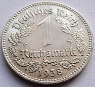 1 Reichsmark 1938 E stan! (Xh53)