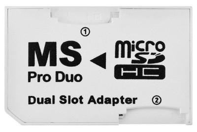 QBA2 Adapter DUAL 2xMicro SD /Memory Stick PRO DUO