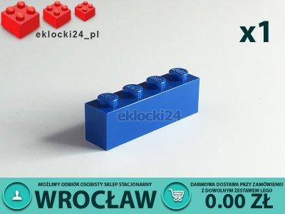 Lego 301023 Cegła 1x4 Niebieska 1x Brick 6097942311 Oficjalne