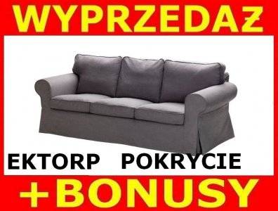 Ikea Ektorp Pokrycie Sofy 3 Osobowej Svanby Szary