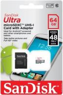 SanDisk MICRO SD XC ULTRA 48MB/s C10 UHS-I 64GB