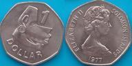 Wyspy Salomona 1 dolar 1977r. KM 6 - duża!