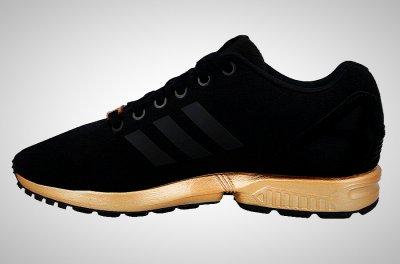 buty adidas zx flux złote allegro