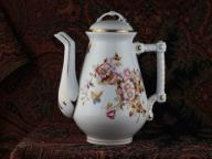 Piękny dzbanek na herbatę Śląsk XIX wiek