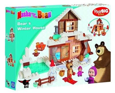 Klocki Masza I Niedźwiedź Zimowy Dom Niedźwiedzia 6718220816