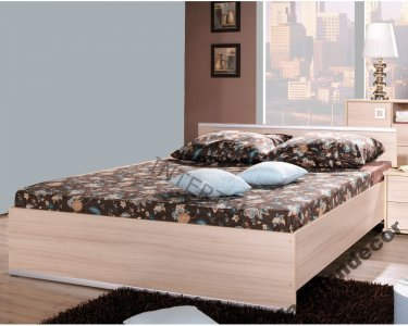łóżko Dwuosobowe Z Materacem 140x200 Agata 6404564058
