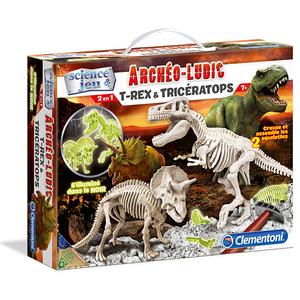 Clementoni 52072 Skamieniałości Świecące Dinozaury