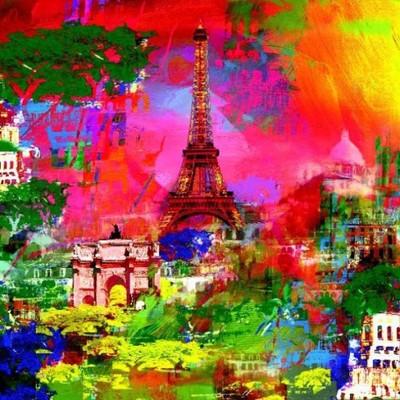 Paris - plakat obraz 70x70cm /09834