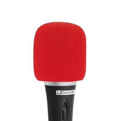 LD Systems Gąbka Owiewka na Mikrofon CZERWONA