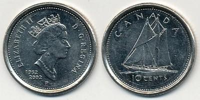Kanada 10 Cents - 2002r ... Monety
