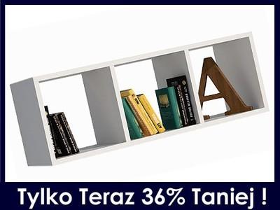 Półka Wisząca ścienna Biała Książki Szafka Dzieci 6526069296