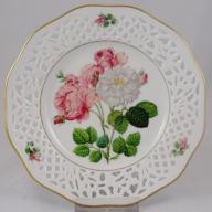 SCHUMANN ażurowy talerz dekoracyjny róże nr 2