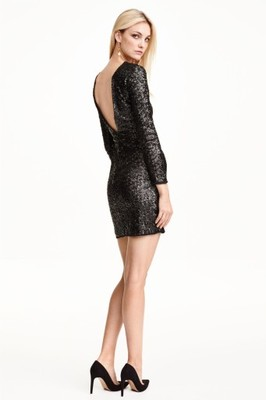 67f33ab7d5 H M sukienka cekinowa z podszewką L Outlet - 6657124508 - oficjalne ...