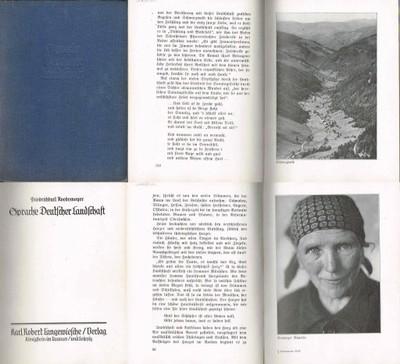 = Roedemeyer - Sprache Deutscher Landschaft 1934 =