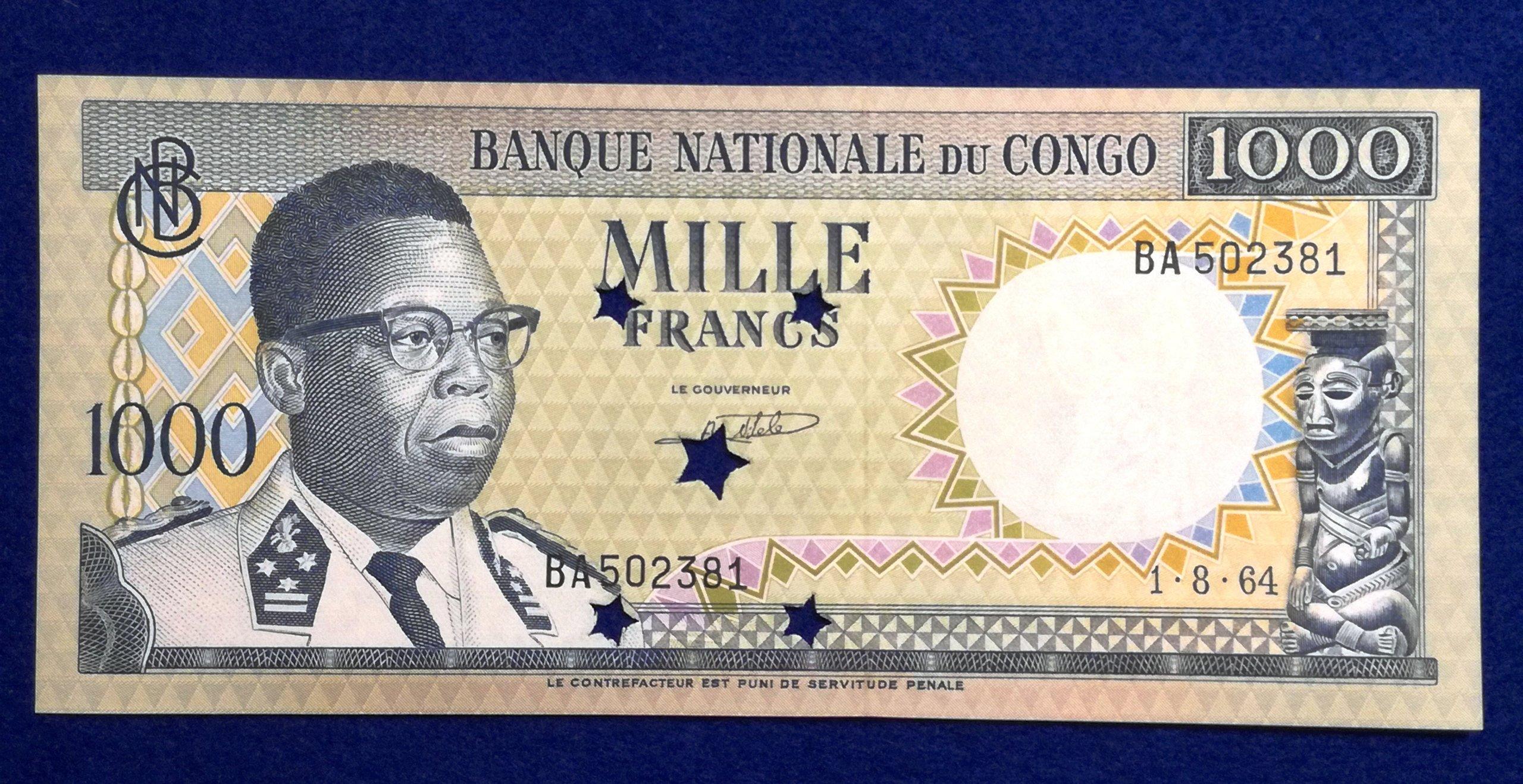 Kongo 1000 Francs 1964 r. 191/10