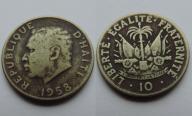 HAITI 10 CENTIMES 1958