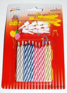 Świeczki urodzinowe niegasnące 12 sztuk