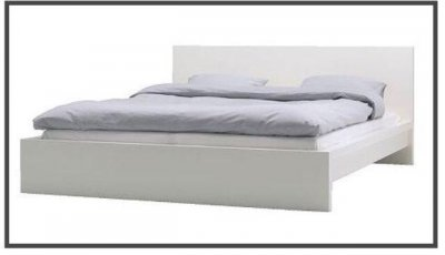 łóżko Do Sypialni Ikea Malm Białe 160200 6498987980