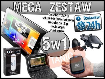 TABLET 7 GOCLEVER +MODEM 3G +ETUI +UCHWYT +BATERIA