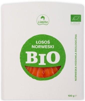 ŁOSOŚ NORWESKI WĘDZONY NA ZIMNO PLASTRY BIO 100 g